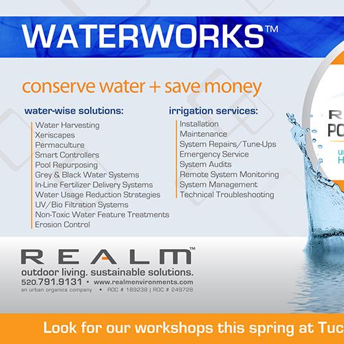 Tucson Botanical Gardens Newsletter Ad for REALM
